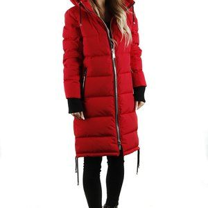 NEW WITH TAGS Sicily JackieO red long puffer parka